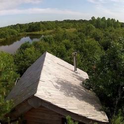 la cabane trappeur, vue par un écureuil!